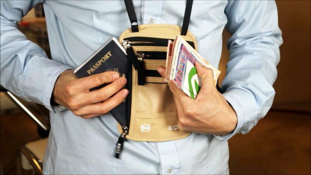 traveler's neck wallet